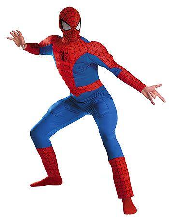 Le déguisement Spiderman musclé, idéal pour avoir une carrure de super héros en 2 temps 3 mouvements !