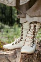 """Stivali medievali di pelle """"Principe della Foresta"""" per GRV"""