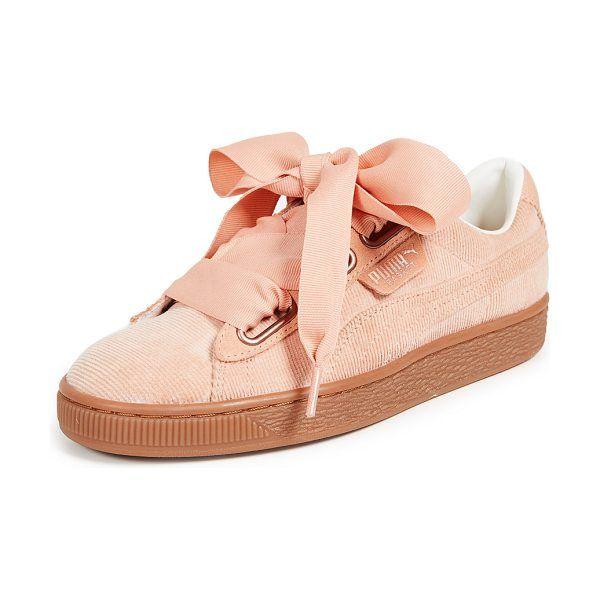 PUMA basket heart corduroy sneakers. #puma #sneakers