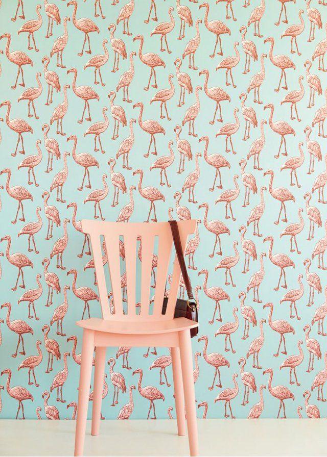 L 39 imprim flamingo chic ou kitsch kitsch chic et vintage for Idee deco kitsch