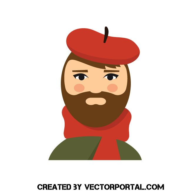 Painter In Red Hat Vector Image Hat Illustration Red Hats Vector Free