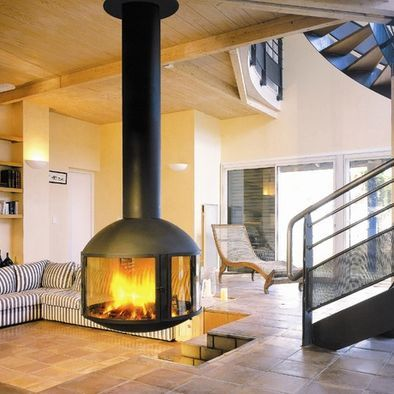 Modern Wood Stove Design, Pictures, Remodel, Decor and Ideas