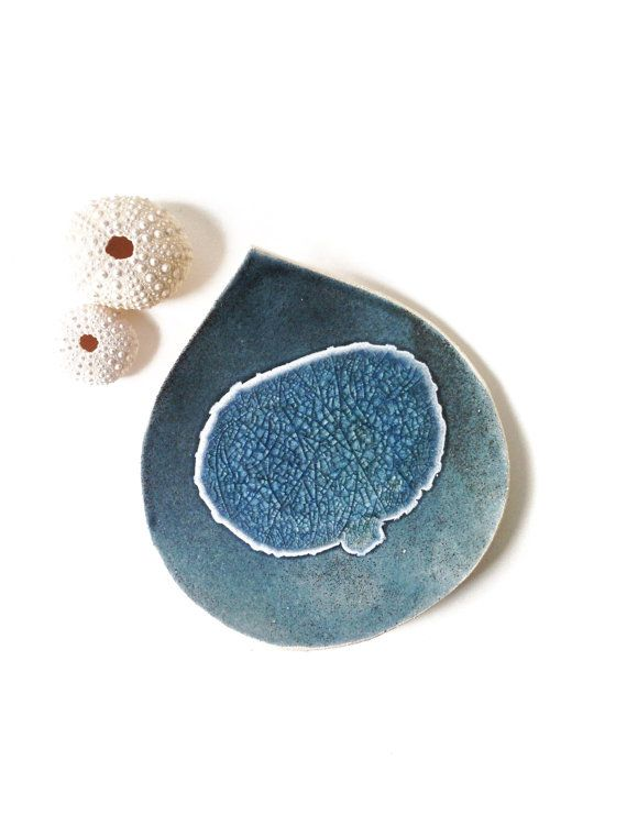 soap dish caribbean leaf home decor bathroom decor candle holder deep ocean blue ceramic pottery recycled glass bathroom accessory uk shop