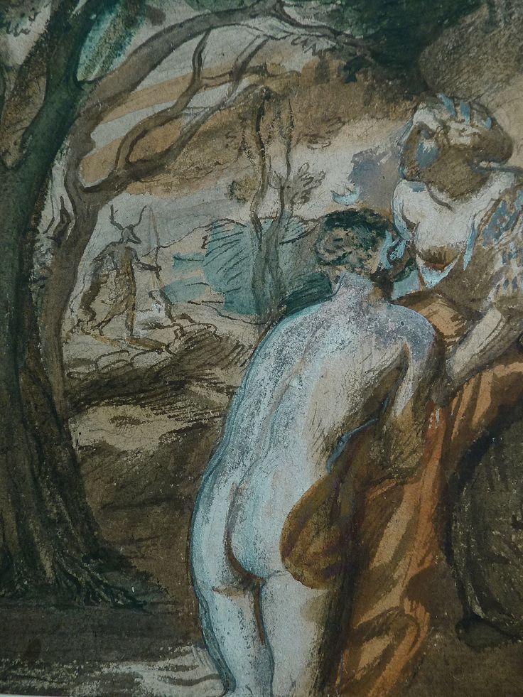 CHASSERIAU Théodore,1840 - Diane et Actéon, Etude - Détail 07
