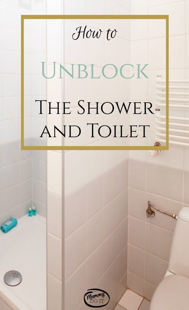Great tips for cleaning and unblocking the shower and toilet without getting your hands dirty! Avoid the mess and use these tips.