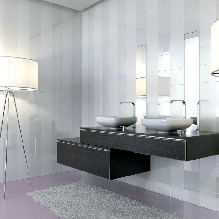 17 best images about salles de bains on pinterest for Carrelage 20x20 blanc bossele