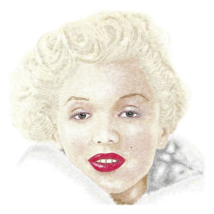 Marilyn Monroe created using 4 point type.