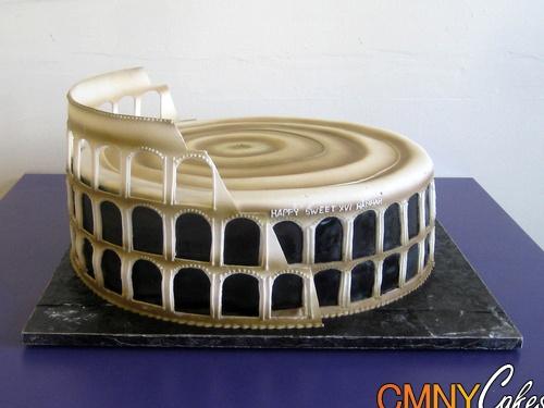 Roman Colosseum cake