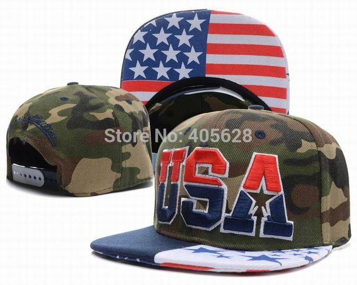 Красочные флаг сша хип-хоп улица Snapback шапки