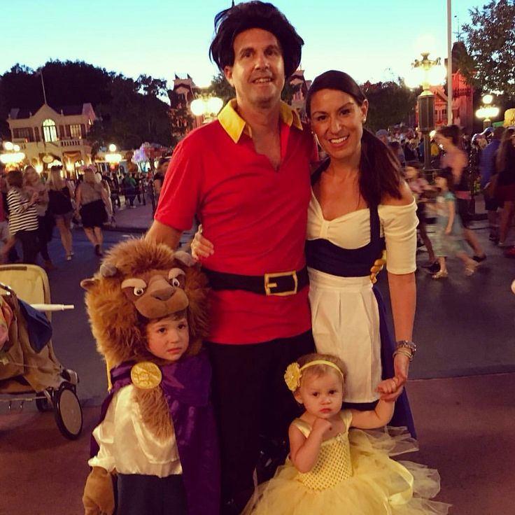 Beauty and the beast family costumes