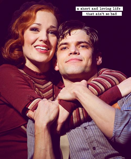 Jeremy Jordan and Laura Osnes in Bonnie & Clyde