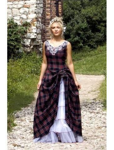Abigail, Tartan (Plaid) Wedding Dress