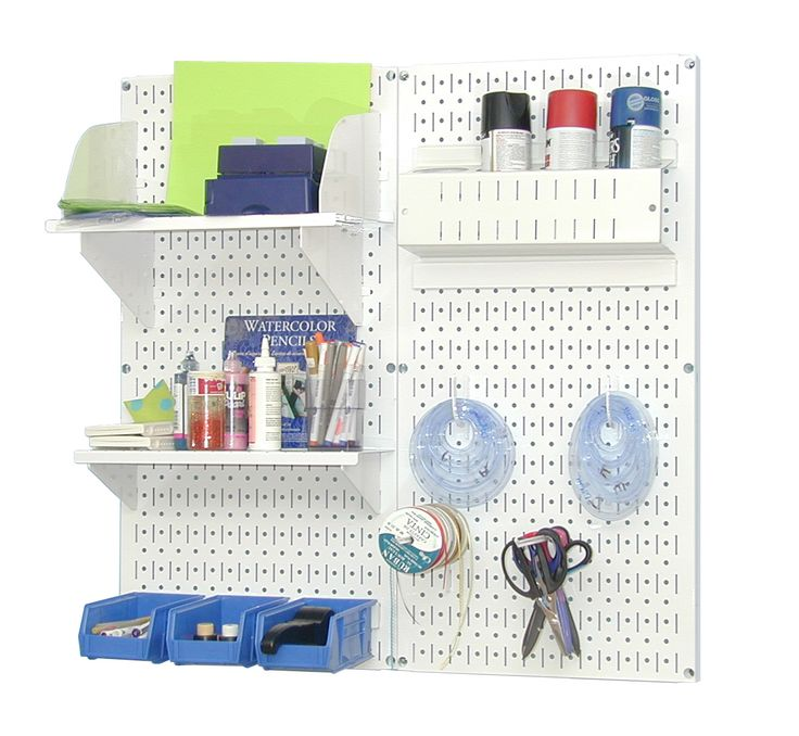 Craft U0026 Hobby Pegboard Organizer Kit   White Pegboard With Accessories