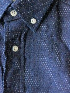Gitman Vintage navy micro dot
