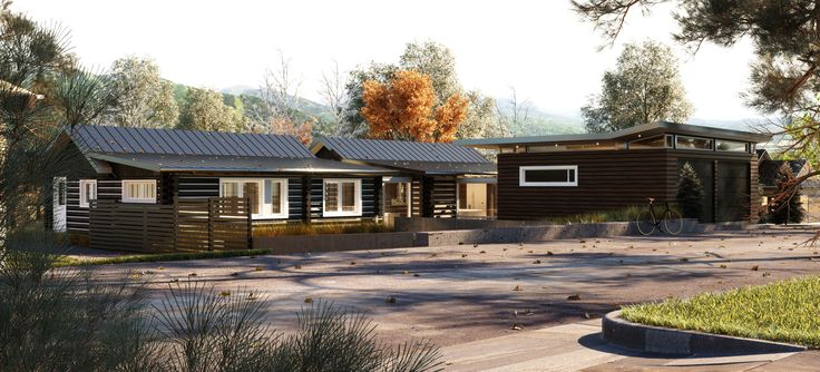 3D visualizations of a house in Aspen done by 3d-vizual. Old stylish cabin with a new modern look. #3d-vizual. #aspen #render #architecture #3d visualization #exterior, #3dvizual