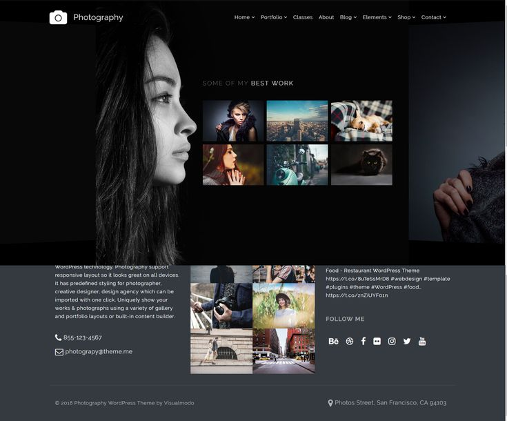 Home – Carousel – Photography WordPress Theme