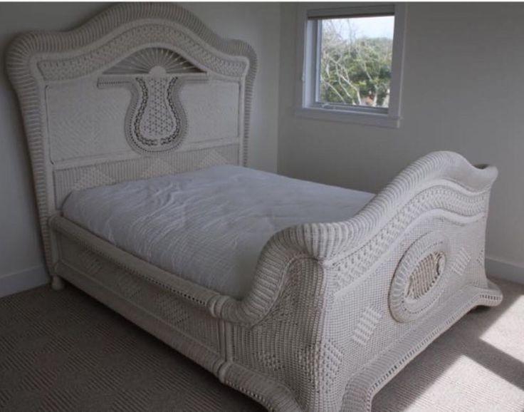 ralph lauren victorian wicker fullqueen bed