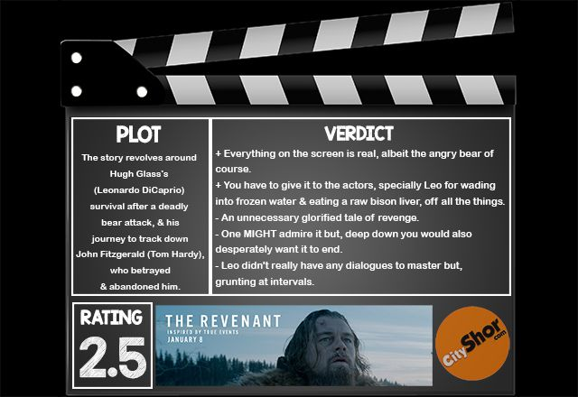 Movie Review - The Revenant by Cityshor in Ahmedabad  #MovieReview #TheRevenant #EnglishMovieReview #HollywoodMovieReview #CityshorAhmedabad