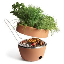 4. Thyme to Cook  Green up your garden with the Hot-Pot BBQ. Featuring a herb garden on top and a coal BBQ below, this grill that thrills is a sizzling good time.  www.black-blum.com
