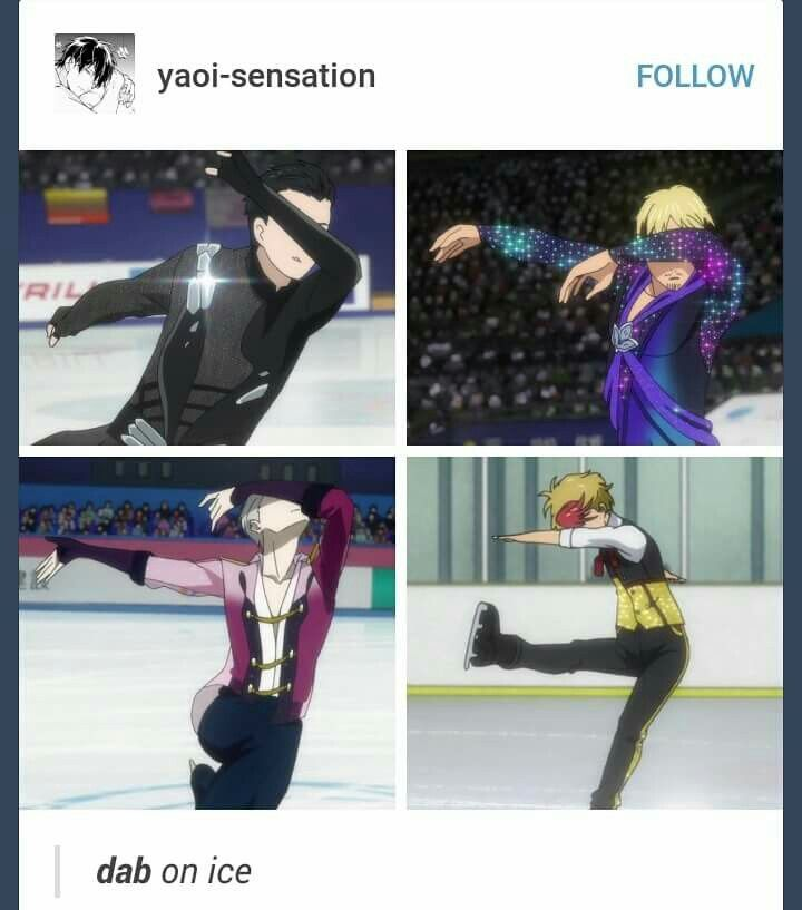 """Dab on Ice"". But seriously Victor's dab is fabulous!"
