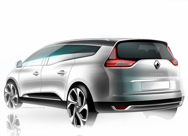 Renault Grand Scenic 2017 poster, #poster, #mousepad