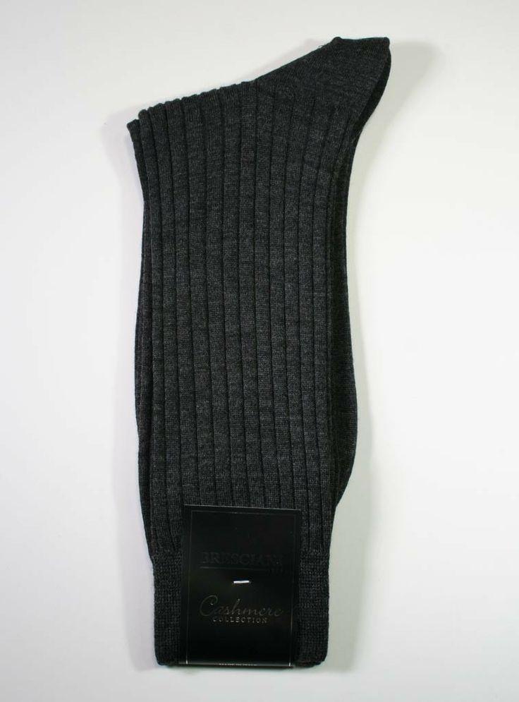 Bresciani Cashmere Silk Crew - Men's | The Sock Hop