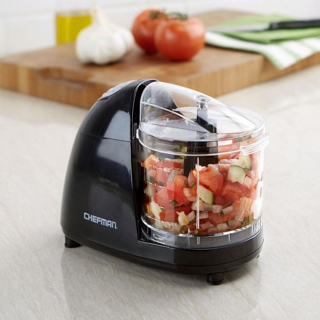 Chop And Mince Easily With The Chefman Food Chopper It S Large 1 5 Cup Capacity