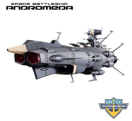 "robozealot: ""Space Battleship ANDROMEDA - Flagship of the EDF (Earth Defense Force). Commissioned: 2202 A.D. """
