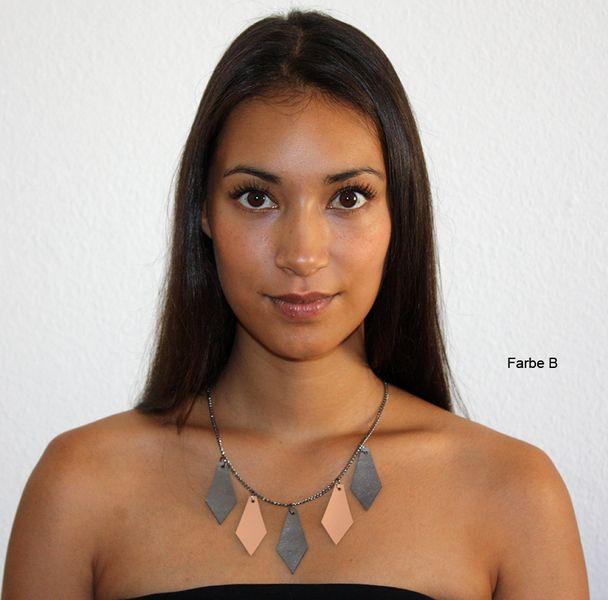 Kette Lederkette RAINDROPS von NNI-fashion auf DaWanda.com