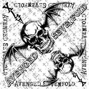 """Official Avenged Sevenfold silk screened cotton bandana featuring White Cross design.  Bandana measures 21.5"""" (54cm) X 21.5 """" (54cm), perfect for head wear or as a banner for your wall"""