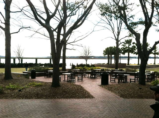 Plum's restaurant in Beaufort, SC  (outdoor eating on the water)