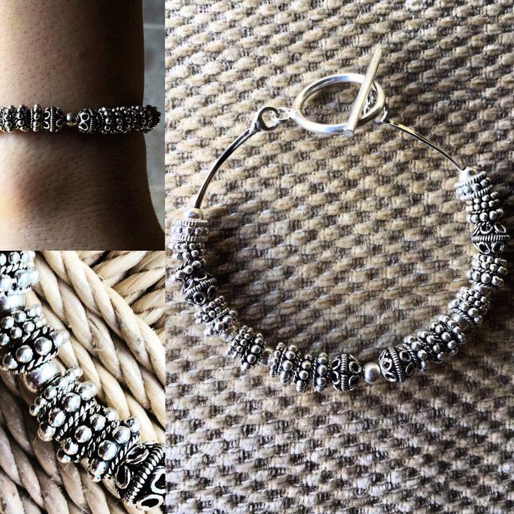 Özel tasarım gümüş bileklik