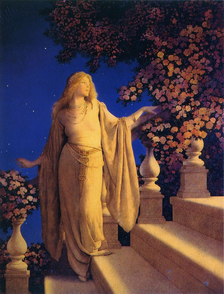 Maxfield Parrish - My Aunt Sis introduced me to this artist, and I'm always reminded of my Grandma Taylor. Reportedly, Parrish's model was a young woman with beautiful auburn hair. My aunt always talks about Grandma's gorgeous auburn hair, so it always reminds me of her!