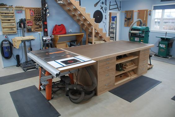 Outfeed Table To Do In 2019 Woodworking Shop Layout