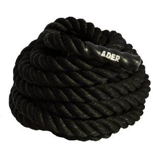 """Cross Fit Battle Training Power Rope (2.0"""" x 40'). Black Poly Power Training Battle Rope. Diameter: 2.0 inch. Length: 40 ft. Great for Crossfit or MMA training indoors or outdoors. NO shipping to Alaska, Hawaii, or APO/FPO addresses or PO boxes."""