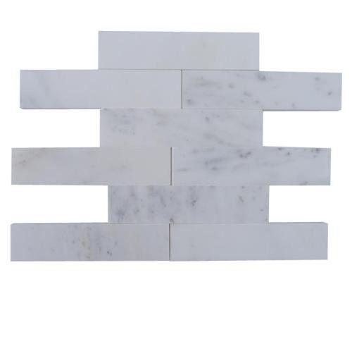 Brushed Stone Asian Statuary 2x8 Marble Tile $14.99