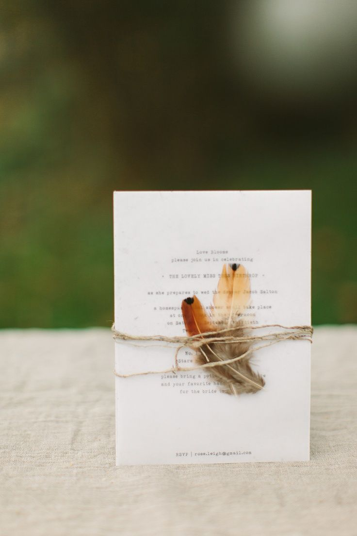 Simply Elegant Group's Feather Wedding Inspiration Gallery - Bridal Bouquet, Boho, Bohemian, Invitation, typewriter, simple, twine, natural, Photo by Luke Going PhotographyPhoto byCmostr Photography