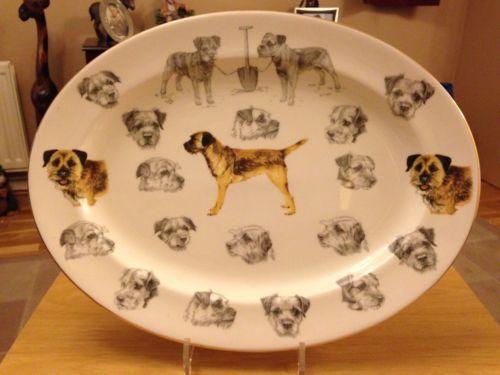 Border Terrier Oval Plate