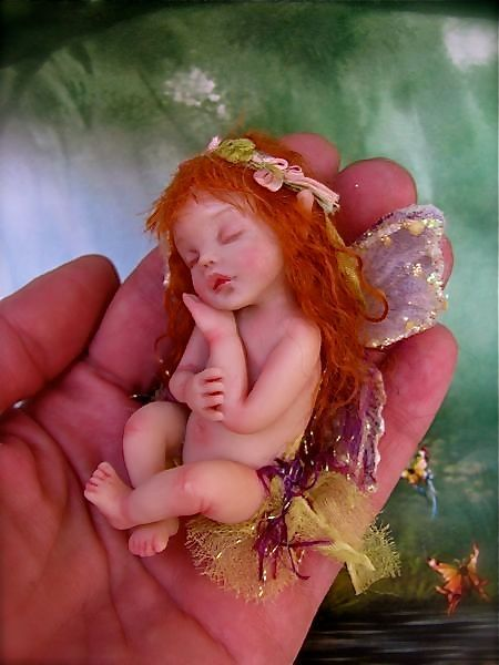 Another beautiful fairy to be made from polymer clay.