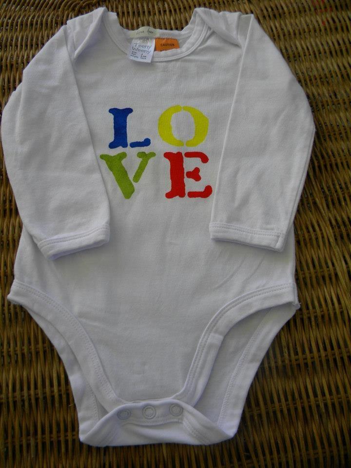 Long sleeve onsie..all we need is love.