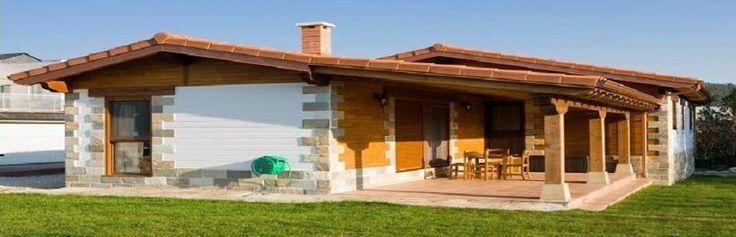 Casas prefabricadas de madera rucorkasa alava casas for Casas de campo prefabricadas