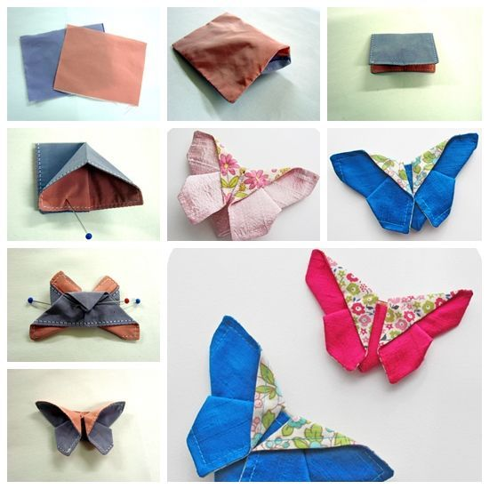fabric origami butterfly F Wonderful DIY Lovely Fabric butterfly