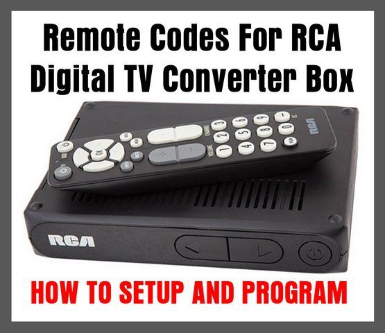 RCA Digital TV Converter Box REMOTE CODES