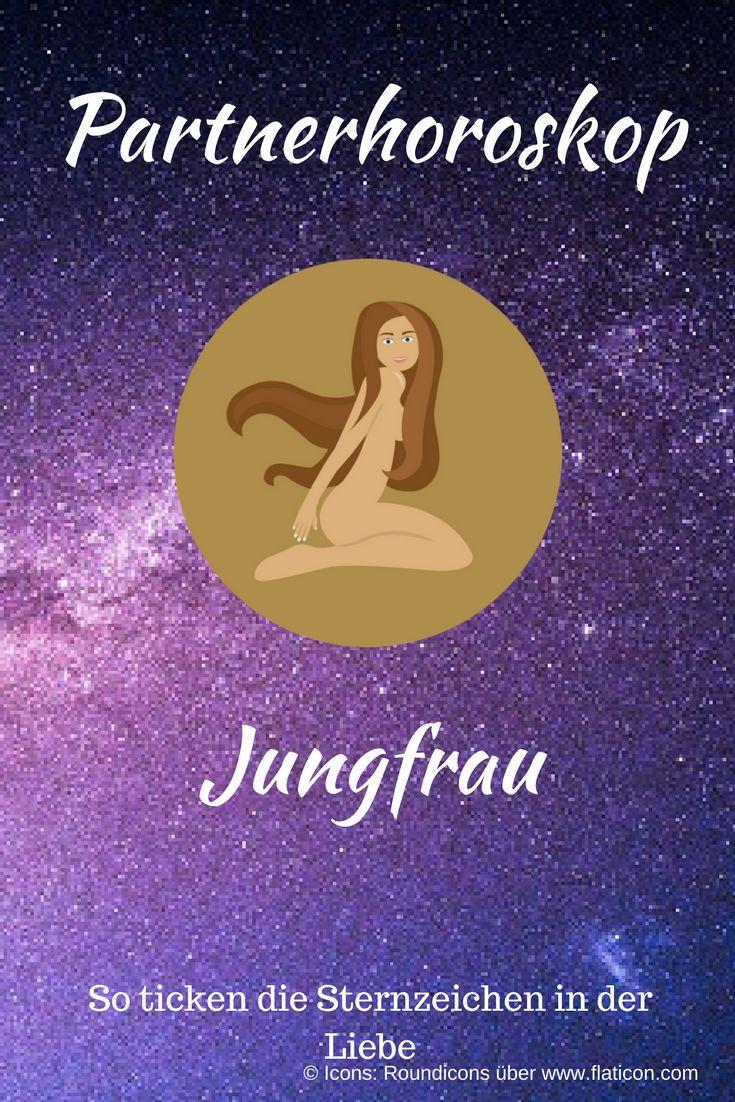 Partnerhoroskop Jungfrau: Das sagen die Sterne über die Liebe! Abbildung des Sternzeichen-Icons auf Sterne-Hintergrund