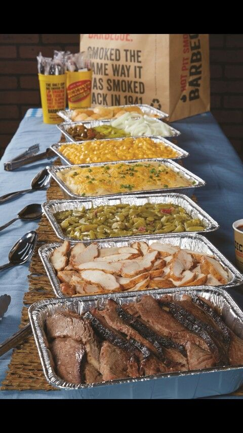 Ham, turkey, roast beef? Potato salad, salad, coleslaw, rolls, bbq burgers, hotdogs, sausages, clams, mussels, etc.