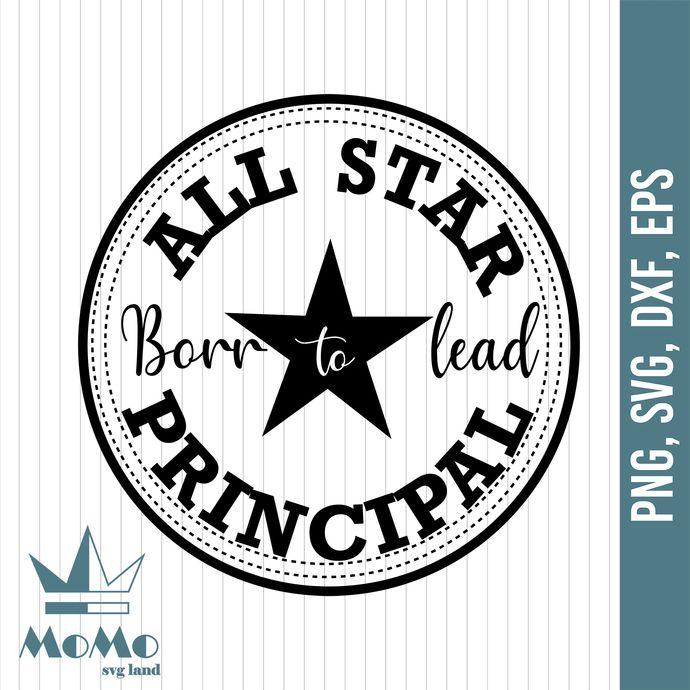 All Star Principal Svg Principal Svg By Crowndesign On Zibbet In 2020 Svg Word Design Nurse Life
