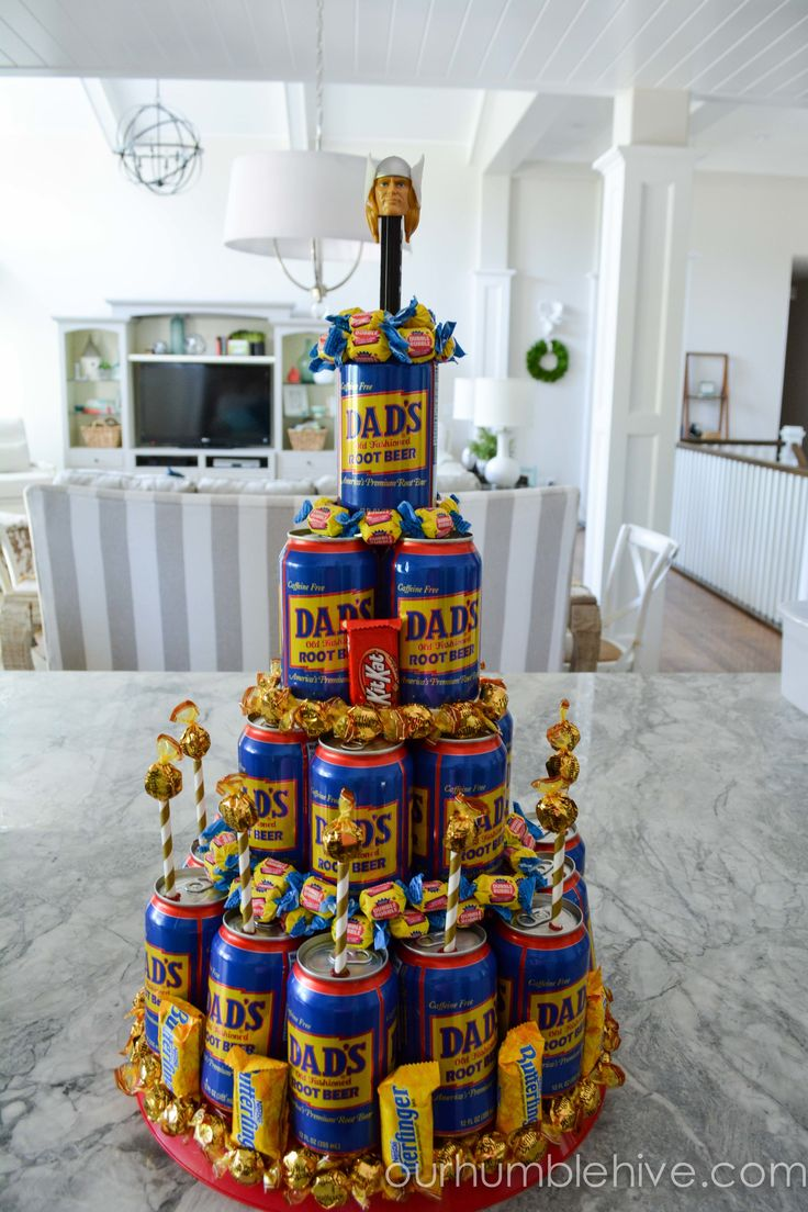 Soda Pop Tower Cake For Dad Dads Father S Day And Blog