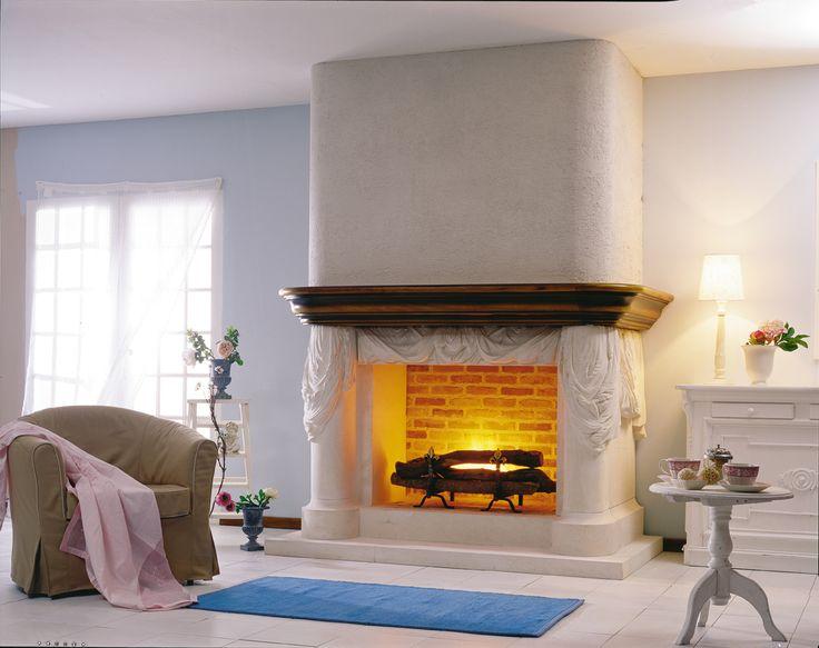 Best Fireplace Decor Images On Pinterest Decor Ideas - Cool apartment ideas blending wood black white interior design decor