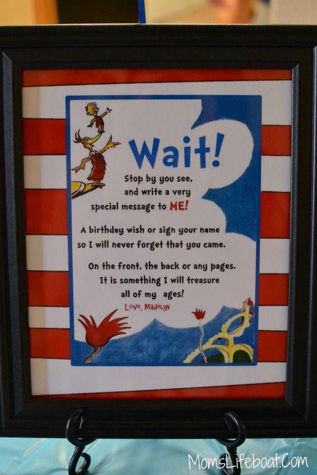 Dr Seuss Birthday Party Ideas Dr Seuss Birthday Party