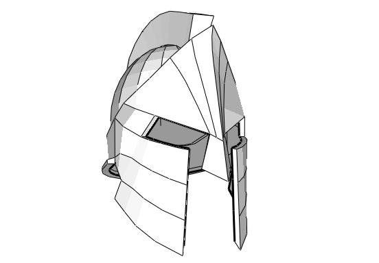 300 - Life Size Spartan Soldier's Helmet for Cosplay Free Papercraft Template…